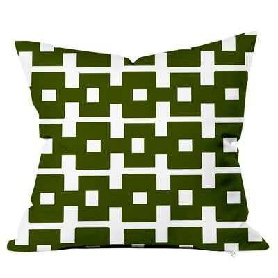 All Boxed In Throw Pillow Size: 18 H x 18 W x 4 D, Color: Olive