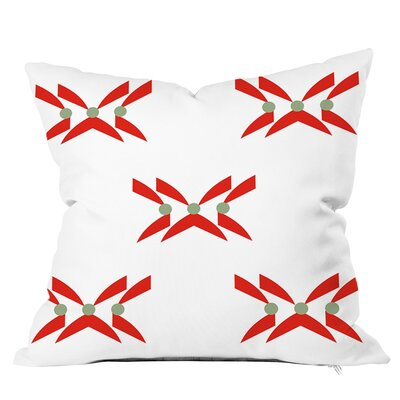 Criss Cross Geometric Throw Pillow Size: 18 H x 18 W x 4 D, Color: Orange Mint
