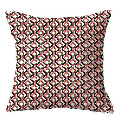 Confetti Geometric Throw Pillow Size: 16 H x 16 W x 4 D, Color: Coral