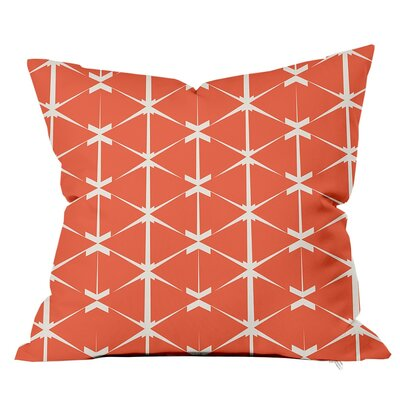 Love Triangles Throw Pillow Size: 16 H x 16 W x 4 D, Color: Terra