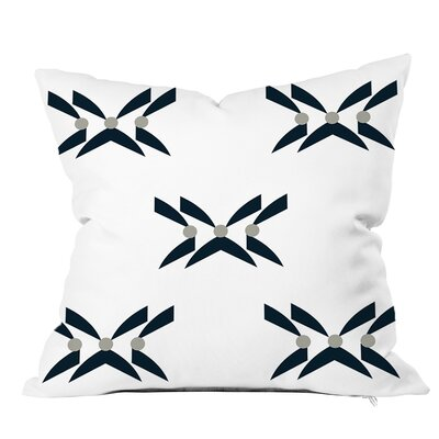 Criss Cross Geometric Throw Pillow Size: 16 H x 16 W x 4 D, Color: Navy Gray