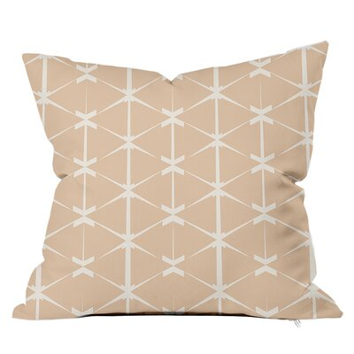 Love Triangles Throw Pillow Size: 16 H x 16 W x 4 D, Color: Nude
