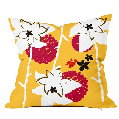 Garden Floral Throw Pillow Size: 16 H x 16 W x 4 D, Color: Lemonade