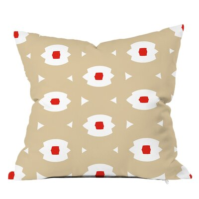 Top Notch Geometric Throw Pillow Size: 16 H x 16 W x 4 D, Color: Orange