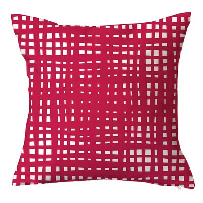 Framework Random Striped Throw Pillow Size: 18 H x 18 W x 4 D, Color: Pink