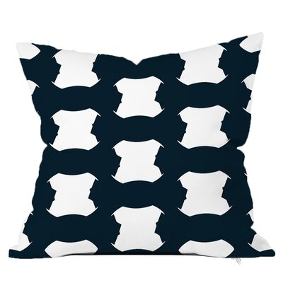 Tied Up Throw Pillow Size: 18 H x 18 W x 4 D, Color: Navy