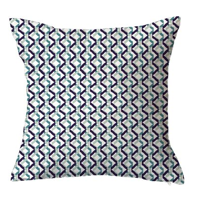 Confetti Geometric Throw Pillow Size: 16 H x 16 W x 4 D, Color: Blue