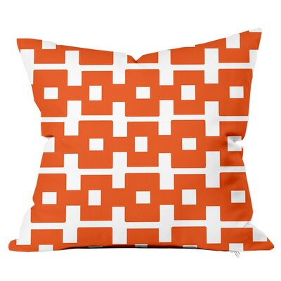 All Boxed In Throw Pillow Size: 16 H x 16 W x 4 D, Color: Orange