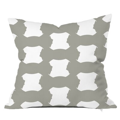 Tied Up Throw Pillow Size: 18 H x 18 W x 4 D, Color: Grey