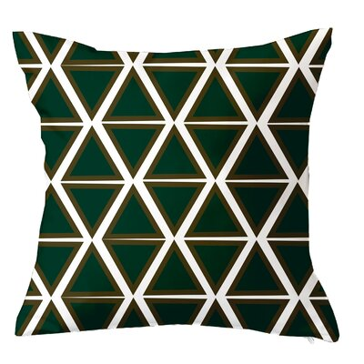 Trillion Triangle Geometric Throw Pillow Size: 16 H x 16 W x 4 D, Color: Emerald