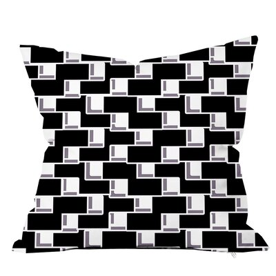All Boxed In II Geometric Throw Pillow Size: 16