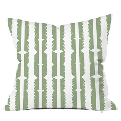 Tribe Feather Print Throw Pillow Size: 18 H x 18 W x 4 D, Color: Mint Green