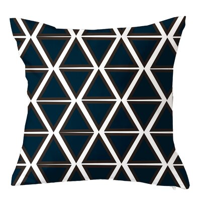 Trillion Triangle Geometric Throw Pillow Size: 16 H x 16 W x 4 D, Color: Navy