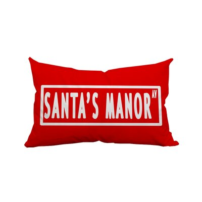 Holiday Treasures Indoor/Outdoor Lumbar Pillow Color: Red