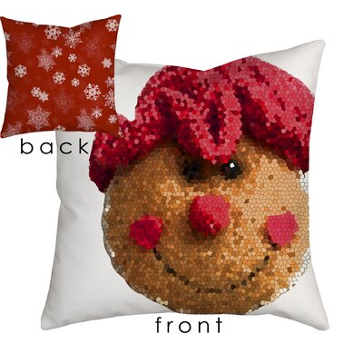 Holiday Treasures Gingerbread Lady Throw Pillow Size: 18 H x 18 W