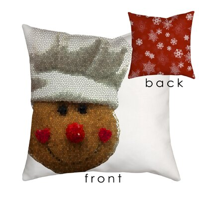 Holiday Treasures Gingerbread Man Throw Pillow Size: 18 H x 18 W