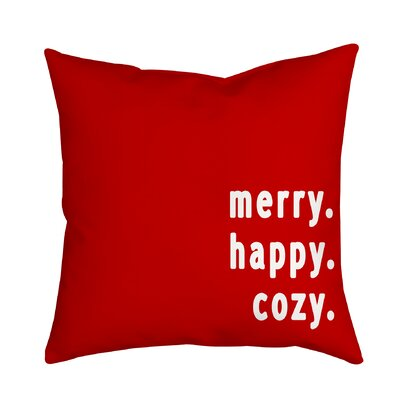 Holiday Treasures Throw Pillow Size: 18 H x 18 W