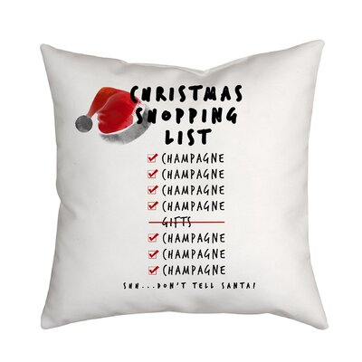 Holiday Treasures Christmas Shopping List Throw Pillow