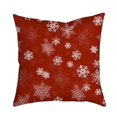 Holiday Treasures Throw Pillow Color: Red
