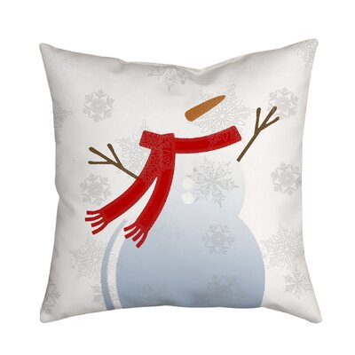 Holiday Treasures Mr. Snowman Throw Pillow Size: 18 H x 18 W