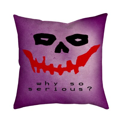 Holiday Treasures Joker Face Textual Throw Pillow