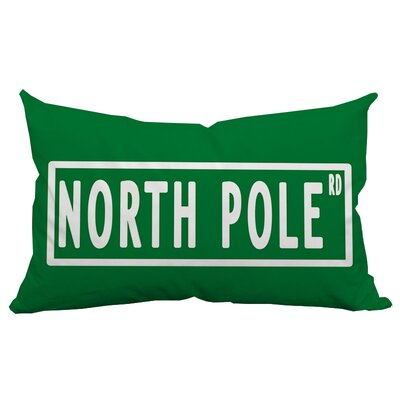 Holiday Treasures North Pole Textual Indoor/Outdoor Lumbar Pillow