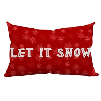 Holiday Treasures Let It Snow Textual Lumbar Pillow