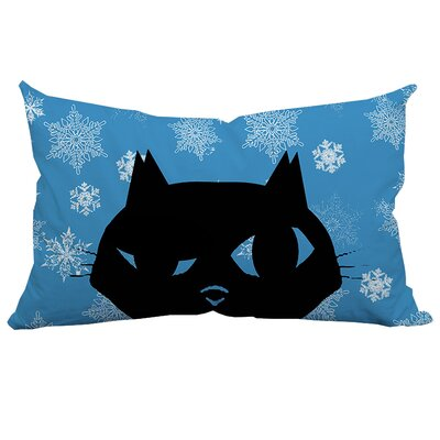 Holiday Treasures Sly Christmas Cat Polyester Lumbar Pillow