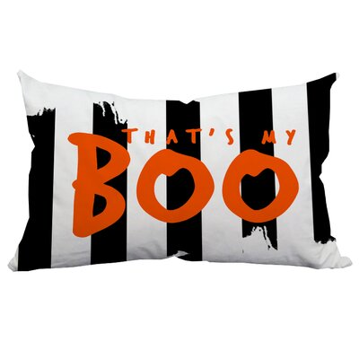 Holiday Treasures Thats My Boo Textual Indoor/Outdoor Lumbar Pillow