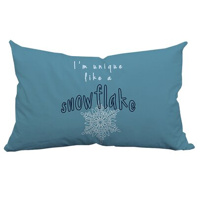 Holiday Treasures Unique Snowflake Textual Lumbar Pillow