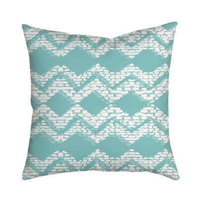 Beach Vibrations Geometric Throw Pillow Size: 18 H x 18 W x 2 D, Color: Blue