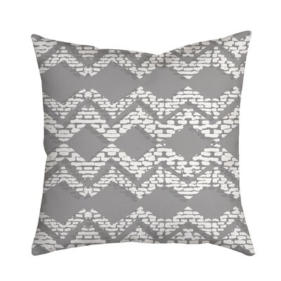 Beach Vibrations Geometric Throw Pillow Size: 18 H x 18 W x 2 D, Color: Gray