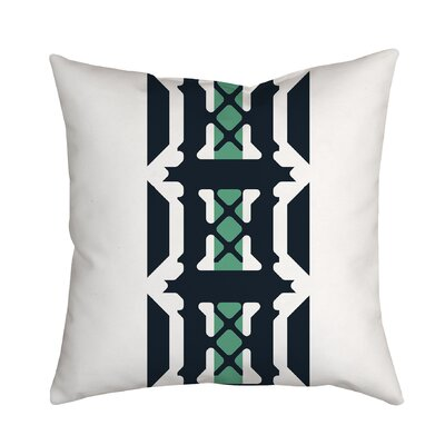 Oriental Inspirations Geometric Throw Pillow Size: 18 H x 18 W x 2 D, Color: Teal