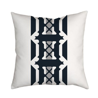 Oriental Inspirations Geometric Throw Pillow Size: 18 H x 18 W x 2 D, Color: Gray