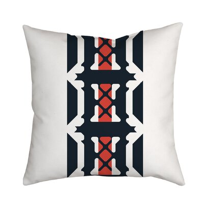 Oriental Inspirations Geometric Throw Pillow Size: 18 H x 18 W x 2 D, Color: Orange