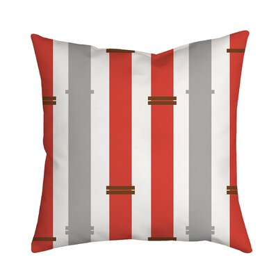 Bamboo Geometric Throw Pillow Size: 18 H x 18 W x 2 D, Color: Coral