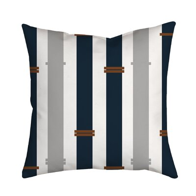 Bamboo Geometric Throw Pillow Size: 18 H x 18 W x 2 D, Color: Navy