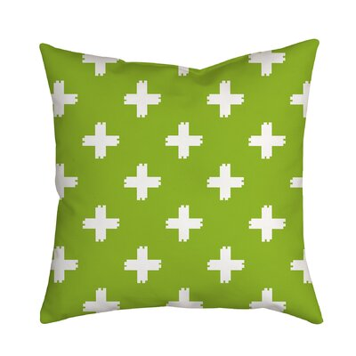Positively Colorful Geometric Indoor/Outdoor Throw Pillow Size: 18 H x 18 W x 2 D, Color: Green