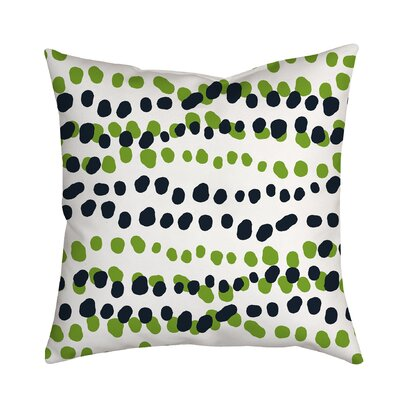 Connect the Polka Dots Indoor/Outdoor Throw Pillow Size: 18 H x 18 W x 2 D, Color: Green