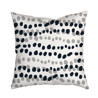 Connect the Polka Dots Indoor/Outdoor Throw Pillow Size: 18 H x 18 W x 2 D, Color: Gray