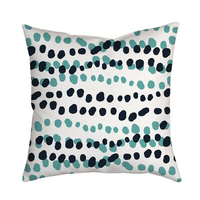Connect the Polka Dots Indoor/Outdoor Throw Pillow Size: 18 H x 18 W x 2 D, Color: Blue