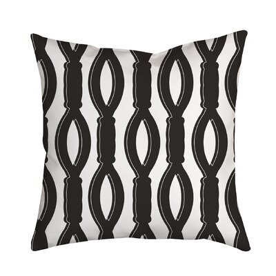 Rope It Throw Pillow Size: 20 H x 20 W x 2 D, Color: Black