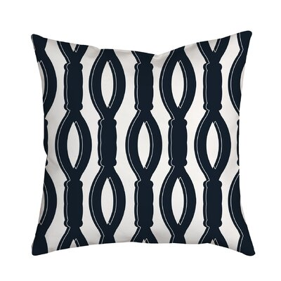 Rope It Throw Pillow Size: 20 H x 20 W x 2 D, Color: Navy