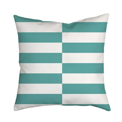 Beachy Stripes Indoor/Outdoor Throw Pillow Size: 18 H x 18 W x 2 D, Color: Blue