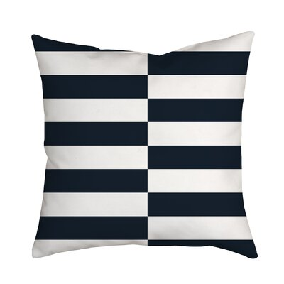 Beachy Stripes Indoor/Outdoor Throw Pillow Size: 20 H x 20 W x 2 D, Color: Navy