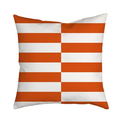 Beachy Stripes Indoor/Outdoor Throw Pillow Size: 18 H x 18 W x 2 D, Color: Orange