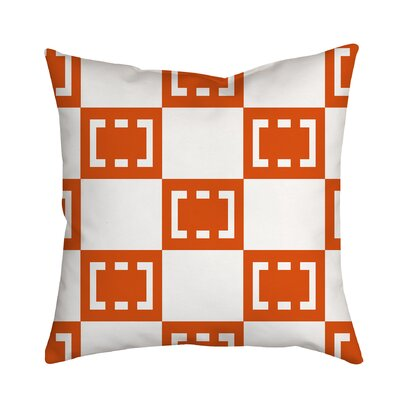 Sand Box Throw Pillow Size: 18 H x 18 W x 2 D, Color: Orange