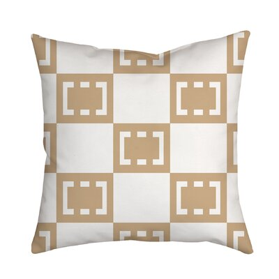 Sand Box Throw Pillow Size: 18 H x 18 W x 2 D, Color: Cream