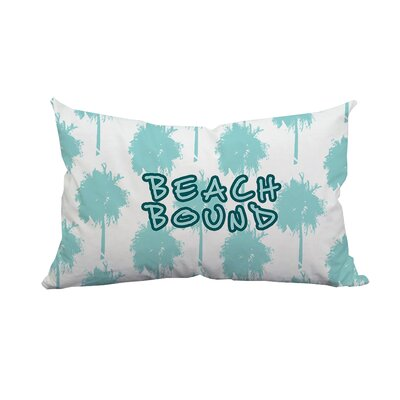 Palm Beach Bound Textual Indoor/Outdoor Lumbar Pillow