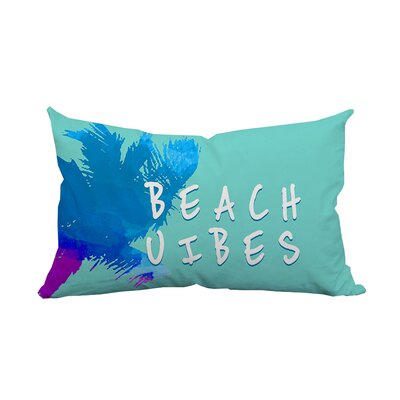 Palm Beach Vibes Textual Indoor/Outdoor Lumbar Pillow